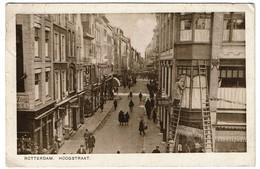 Rotterdam - Hoogstraat - 1933 - Uitg. Roukes & Erhart - 2 Scans - Rotterdam