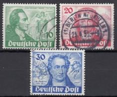 BERLIN  61-63, Gestempelt, Johann Wolfgang Von Goethe, 1949 - Gebraucht