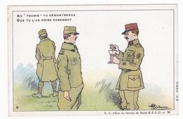 """Carte En Franchise Militaire Anti Paludéenne De L'armée D'orient - Au """"Toubib"""" Tu Démontreras - Marcophilie (Lettres)"""