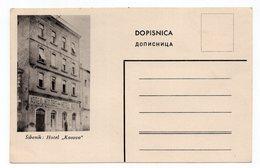 1930s YUGOSLAVIA, CROATIA, ŠIBENIK, HOTEL KOSOVO, ILLUSTRATED POSTCARD, MINT - Yugoslavia