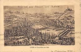 PIE-Z SDV-19-4789 : LYON. ET FOURVIERE EN 1550 - Lyon