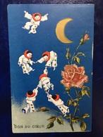 """Cpa Gaufrée--""""Pierrots Flottent Vers Lune-Don Du Coeur""""-(my Ref UI41)-1909 - Illustrateurs & Photographes"""