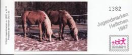 BRD SDJ-MH Mit 5x MiNr. 1923, Postfrisch **, Privates Markenheftchen Stiftung Dt. Jugendmarke, Pferde 1997 - Blocchi
