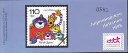 BRD SDJ-MH Mit 5x MiNr. 1993, Postfrisch **, Privates Markenheftchen Stiftung Dt. Jugendmarke, Käptn Blaubär 1998 - Blocchi