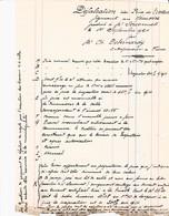 FURES DEBERNARDY ENTREPRENEUR TRAVAUX PUBLICS ET PARTICULIER ANNEE 1924 DEFALCATION DES PRIX - Autres