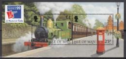 ISLE OF MAN  Block 33, Postfrisch **, 125 Jahre Eisenbahn Auf Man, 1998 - Man (Insel)