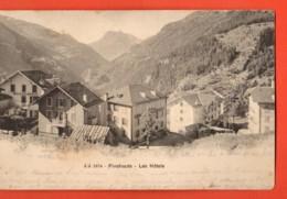 MYD-01 Finshauts Finhaut Sur Salvan, Les Hôtels. Jullien 1674, Dos Simple, Circulé 1903 - VS Valais