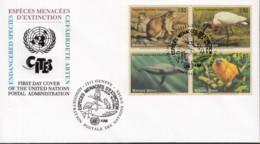 UNO GENF 245-248, FDC (UNPA), Gefährdete Arten, 1994 - FDC