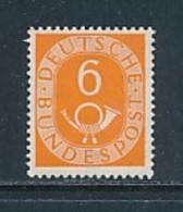 GERMANY Mi.Nr. 126 Freimarken: Posthorn  - 6 Pf  - Geprüft - MNH - [7] République Fédérale