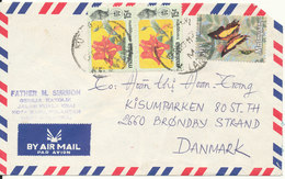 Malaysia Air Mail Cover Sent To Denmark 9-2-1980 Topic Stamps - Malaysia (1964-...)