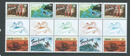 Australia 2013 Surfing Gutter Bock Of 10 MNH - 2010-... Elizabeth II