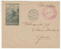 Suisse // Schweiz // Switzerland //  Poste Militaire //  Lettre Pour Genève Au Départ De Montana - Militaire Post