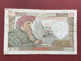 FRANCE Billet De 50 Francs Du 11/09/1941 - 1871-1952 Antichi Franchi Circolanti Nel XX Secolo