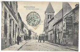GENNEVILLIERS - La Rue Saint Denis - Gennevilliers