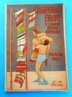 1931 GRECO-ROMAN EUROPEAN WRESTLING CHAMPIONSHIPS Orig. Vintage Programme * Lutte Gréco-Romaine Ringen Lotta Lucha RRRR - Wrestling