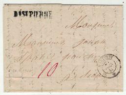 Suisse // Schweiz // Switzerland // Préphilatélie // Lettre De Bourg-St.Pierre (cantine De Proz Pour Martigny 20.6.1854 - ...-1845 Vorphilatelie