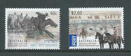 Australia 2013 World War I Anniversary Israel Joint Issue Set 2 MNH - 2010-... Elizabeth II
