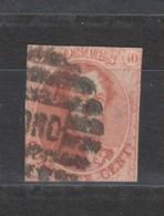 COB 12 Oblitéré NORD Deux Marges - 1858-1862 Medaillen (9/12)