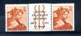 5 Lire Michelangiolesca PONTE MNH ** Circolo Filatelico Feltrino 1967 - Variedades Y Curiosidades