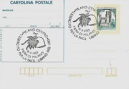 Milano 16-4-1983 L'ESERCITO PER LA PACE - LIBANO 1982-1983 - Esposizioni Filateliche