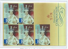 Australia 2013 QEII Coronation Diamond Jubilee $2.60 International Self Adhesive Sheet Of 5 MNH - 2010-... Elizabeth II