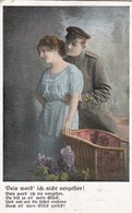 AK Dein Werd' Ich Nicht Vergessen - Deutscher Soldat Mit Frau - Patriotika - Feldpost Ohrdruf - 1917 (45698) - Guerre 1914-18