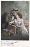 AK Dein Werd' Ich Nicht Vergessen - Deutscher Soldat Mit Frau - Patriotika - Feldpost Ohrdruf - 1917 (45699) - Guerre 1914-18