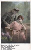 AK Dein Werd' Ich Nicht Vergessen - Deutscher Soldat Mit Frau - Patriotika - Feldpost Ohrdruf - 1917 (45700) - Guerre 1914-18