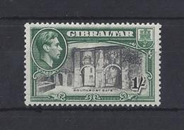 GIBRALTAR.......KING GEORGE VI.(1936-52)......1/-.....SG127b......MH. - Gibraltar