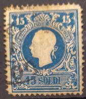 AUSTRIA / LOMBARDO-VENEZIA 1858 - Canceled - ANK LV 11 II - 15 Soldi - Usados