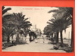 MYD-18  Badalona  RAmbla. ANIME. Circulé En 1919, Mais Timbre Manque. - Espagne