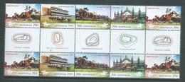 Australia 2014 Horse Racecourses Gutter Block Of 10 MNH - 2010-... Elizabeth II