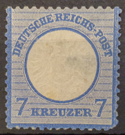 DEUTSCHES REICH 1872 - MLH - Mi 26 - 7kr - Grosses Brustschild - Ungebraucht