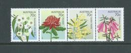 Australia 2014 Floral Emblems 70c Strip Of 4 MNH - 2010-... Elizabeth II