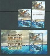 Australia 2014 Military Planes & Submarines Pair, Gutter Pair & Miniature Sheet MNH - 2010-... Elizabeth II