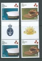 Australia 2014 Army & Navy Gutter Pairs MNH - 2010-... Elizabeth II