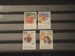 GRENADA GRENADINES - 1993 CANI 4 VALORI. - NUOVI(++) - Grenada (1974-...)