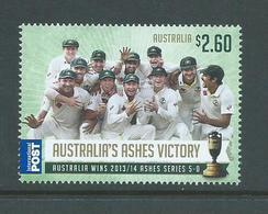 Australia 2014 Cricket Ashes Victory $2.60 International Single MNH - 2010-... Elizabeth II