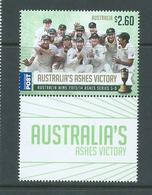 Australia 2014 Cricket Ashes Victory $2.60 International Single With Gutter Margin MNH - 2010-... Elizabeth II