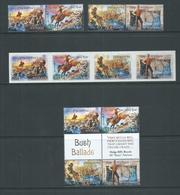 Australia 2014 Bush Ballads Set Of 2 Pairs , Peel & Stick Strip Of 4 & Gutter Block Of 4 - 2010-... Elizabeth II