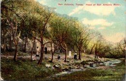 Texas San Antonio Head Of The San Antonio River 1911 - San Antonio