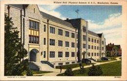Kansas Manhattan Willard Hall Physical Science Kansas State College Curteich - Manhattan