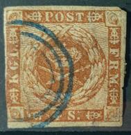DENMARK 1854/57 - Canceled - Sc# 4 - 4s - Gebruikt