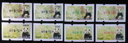 Complete 4 Colors 2010 Giant Panda Bear ATM Frama Stamps-- Lower Face Value - Bamboo Bears WWF Unusual - Oddities On Stamps