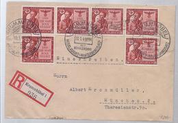 AK-23612  -  Einschreibefrankatur  Nach München  - V. 10,1,1944 - Sello Particular