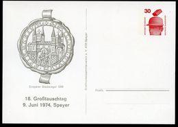 SPEYER STADTSIEGEL 1208  Bund PP68 D2/009 1974  NGK 3,00 € - Briefe U. Dokumente