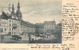 Am Plan Koblenz Street Towers Postcard - Allemagne