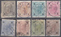 AUSTRIA - Lotto Di 8 Valori Usati: Yvert 46/50, 52, 53 E 55. - 1850-1918 Imperium