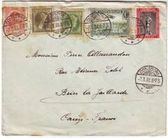 LUXEMBOURG Divers Timbres Obl CONSDORF 1938 Sur Lettre Pour La France - Luxemburg
