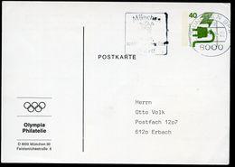 Bund PP69 B2/008 OLYMPIA PHILATELIE MÜNCHEN 1972 Gebraucht  NGK 6,00 € - Postales Privados - Usados